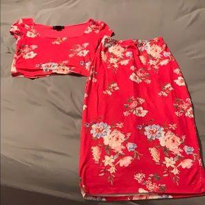 Dresses & Skirts - Tight Skirt & Crop top set